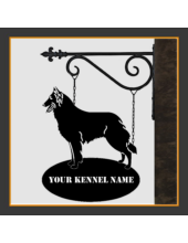 Belgian Shepherd Sign With Kennel Name